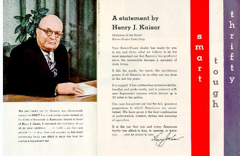 a statement by Henry J.Kaiser